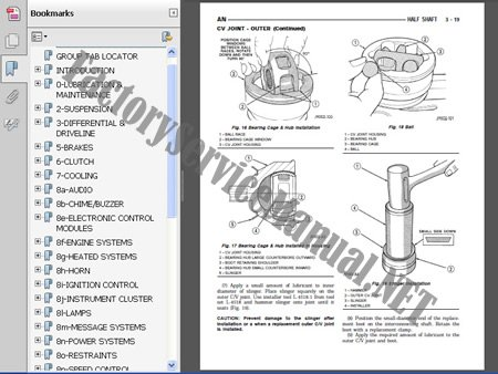 mazda mpv 1996 repair service manual